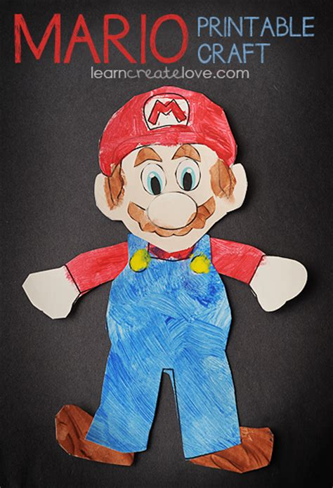mario crafts for printable mario craft