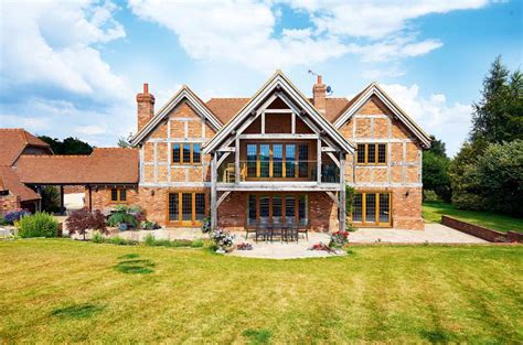 self build house designs uk a brick and oak self build homebuilding renovating