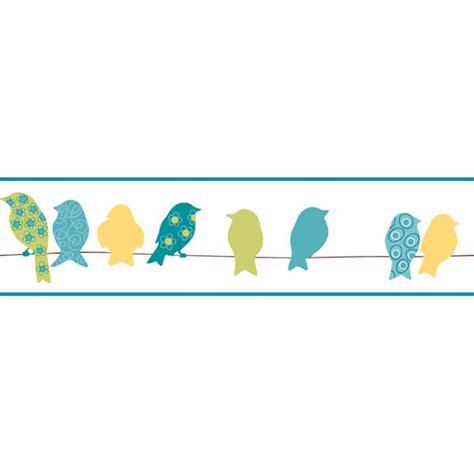 Environmental Graphics Wall Murals green bird on a wire border