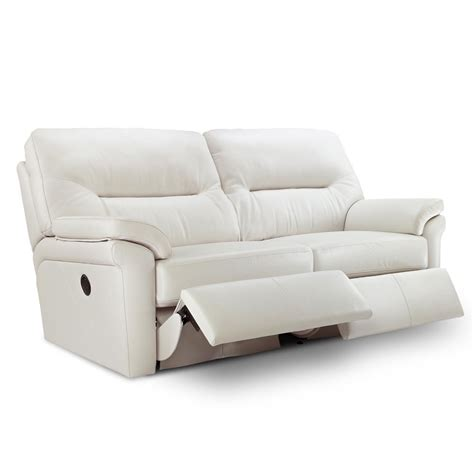 leather recliner sofa g plan washington leather 3 seater electric recliner sofa