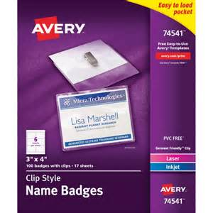 avery name tag templates avery laser inkjet clip style name tag kit