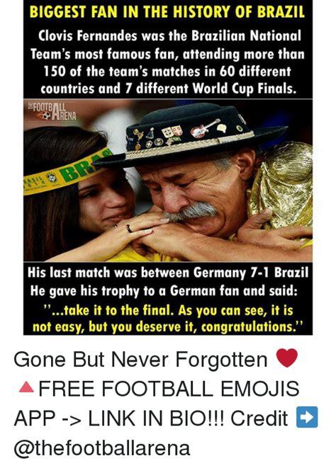 biggest fan in the world biggest fan in the history of brazil clovis fernandes was