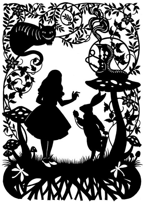 Alice In Wonderland Paper Cut The Supermums Craft Fair Wonderland Pinterest Craft Fairs Silhouette Templates For Paper Cutting
