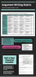 Rubric For Argumentative Essay Middle School by Common 6 Traits Argumentative Writing Rubrics 6 7 8 Resource Middle