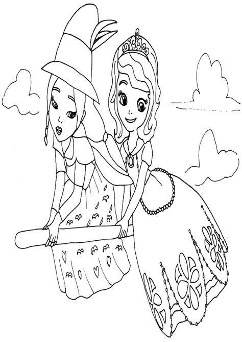 100 free coloring pages sofia the disney princess