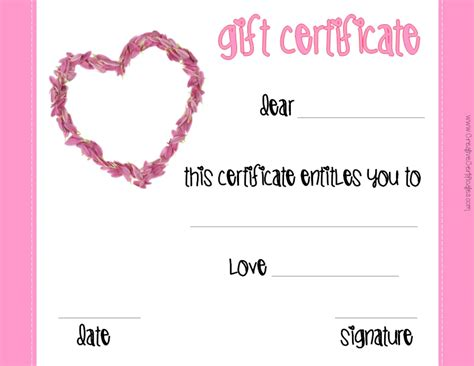 This Certificate Entitles The Bearer To Template by S Gift Certificates