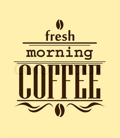 banner cafe design vector fresh morning coffee banner in brown on beige background