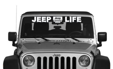jeep windshield decal jeep vinly window decal stickers custom sticker shop
