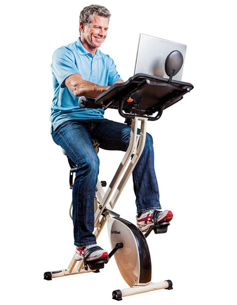exercise bike with laptop desk fitdesk x1 folding exercise bike with sliding desk