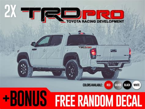 Toyota Tundra Decals Stickers Trd Pro Toyota Racing Development Tacoma Tundra Bed Side