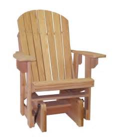 single glider chair outdoor cypress outdoor amish adirondack chair single glider