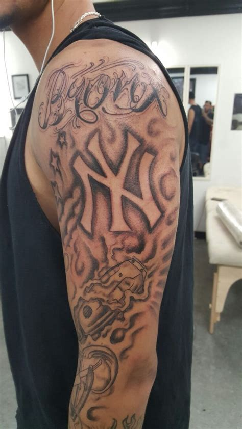 bronx tattoos new york bronx barber sleeve some of my work