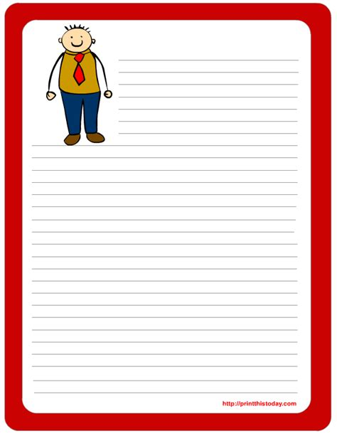 printable father s day stationery letter pad note pad stationery free printables for father