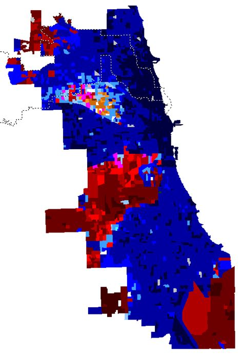 chicago election map map of chicago mayoral election results by precinct