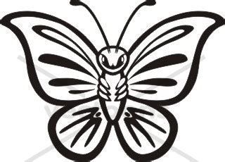 cute butterfly outline clip art 36