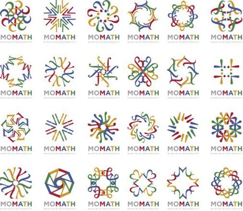 math pattern ideas museum of mathematics logo array graphic design pinterest