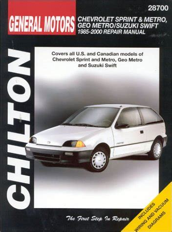 auto repair manual online 2001 chevrolet metro seat position control 1985 2001 chevrolet sprint geo metro haynes repair manual