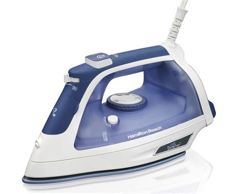 amazon com hamilton beach steam iron with 3 way auto shutoff durathon soleplate 19800 home