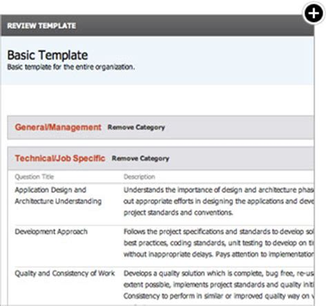 create performance review templates