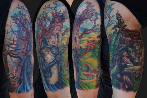 lord of the rings tattoo colourful lord of the rings tattoomagz