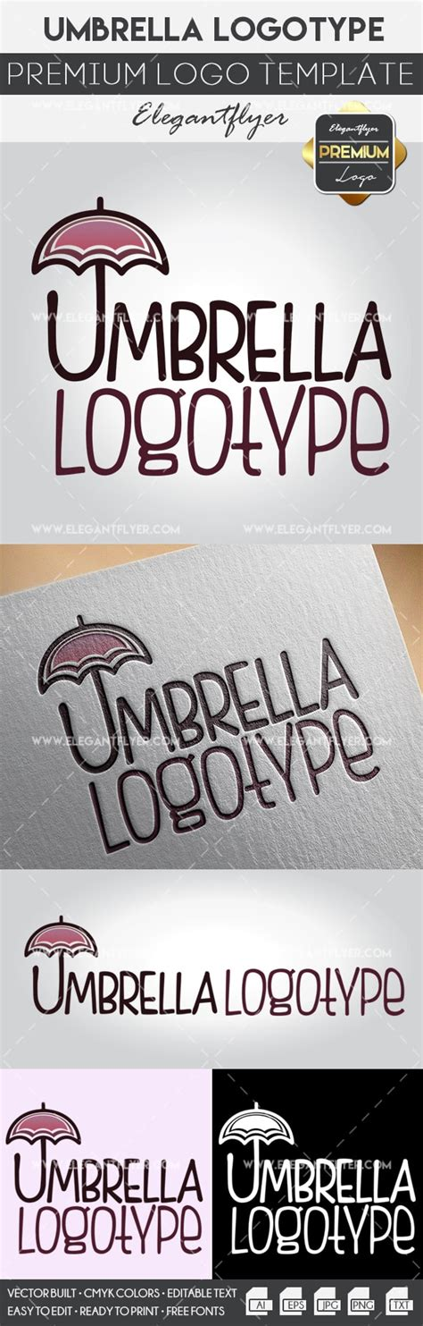 Umbrella Premium Logo Template By Elegantflyer Premium Logo Templates