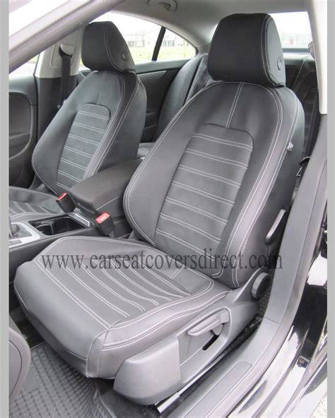 vw cer upholstery volkswagen vw passat cc seat covers charcoal leatherette