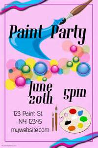 paint party template postermywall