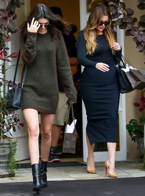 Fossil Kendall Cosmetic kendall jenner flaunts endless slim legs in sweater dress