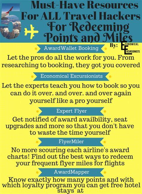 redeem points  miles  resources  tools
