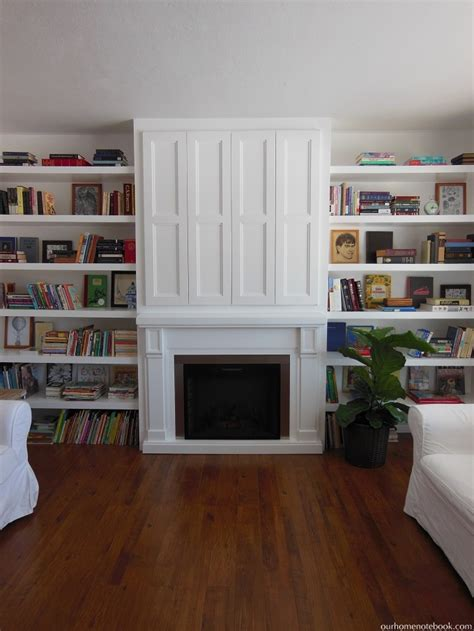 Fireplace Side Shelves by Remodelaholic Built In Fireplace Surround And Shelving