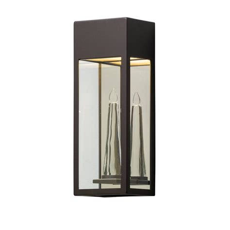 Solar Wall Sconce Moonrays Solar Powered Bronze Outdoor Led Wall Sconce With Flickering Candle 2 Pack 91834