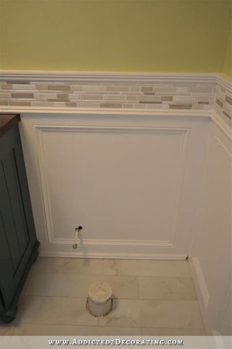 wainscoting bathroom walls finished recessed panel wainscoting judges paneling with