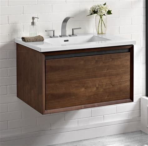 Mounted Vanity by M4 30 Quot Wall Mount Vanity Walnut Fairmont