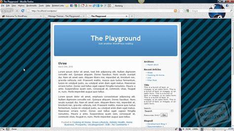 change layout wordpress theme wordpress tutorial how to change a wordpress theme s