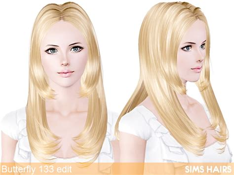 sims 2 hair 2014 butterfly s 133 hairstyle retextured by sims hairs