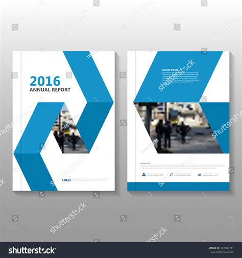 layout of book report blue vector annual report leaflet brochure stock vector