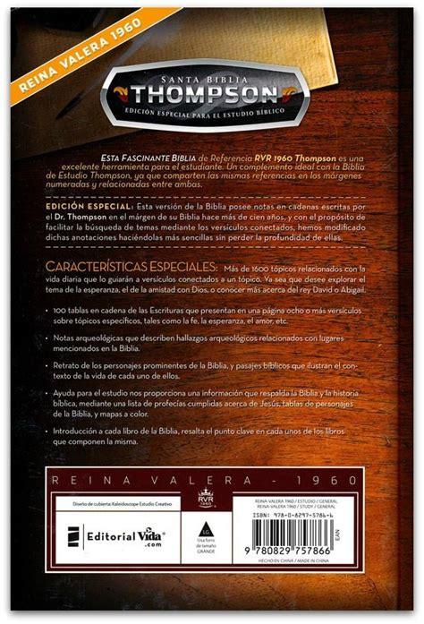 biblia de referencia thompson con versiculos en cadena biblia thompson edicion especial para el