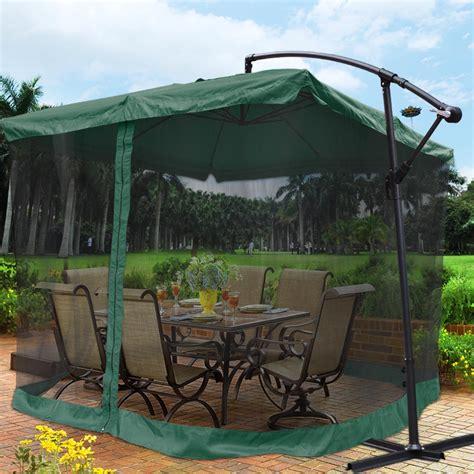 patio umbrella mesh netting home outdoor decoration