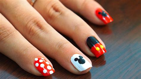 Easy Nail Art At Home Youtube | nail art at home easy cool mickey mouse design in