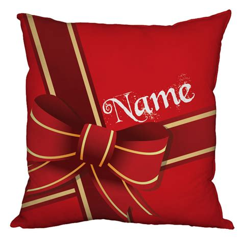 personalised present christmas cushion