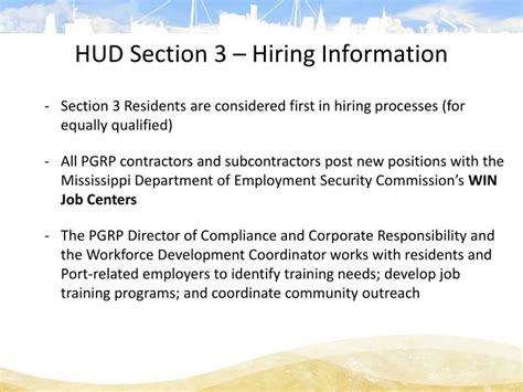 section 3 hud ppt mississippi state port authority port of gulfport