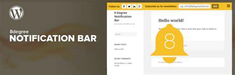 wordpress top bar plugin best wordpress notification bar plugin 8degree