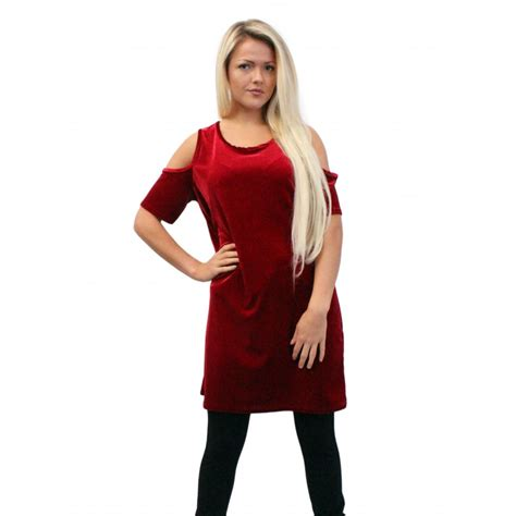 Wardrobe Tops by Oversized Velvet Top With Cut Out Detail On The