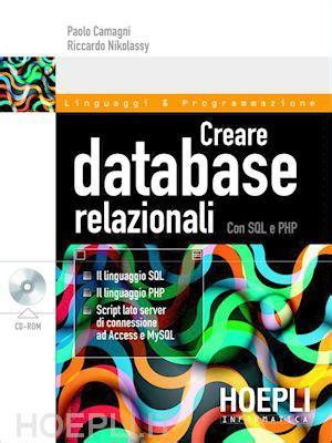 database libreria creare database relazionali con sql e php camagni paolo