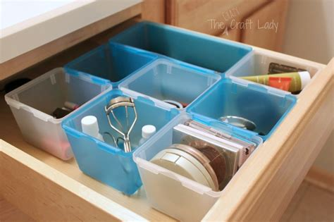 bathroom drawer organizer diy dollar bathroom organizing the crazy craft lady
