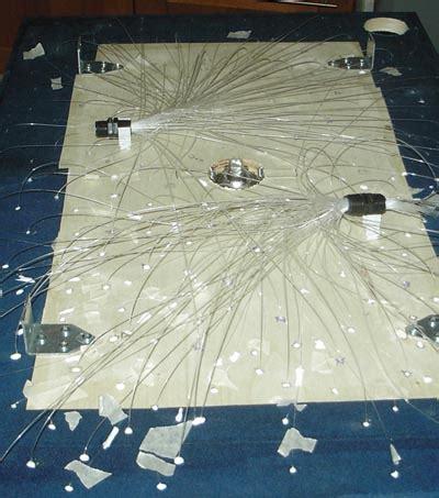 illuminazione a fibra ottica ladario in fibra ottica fissiamo le fibre mauro