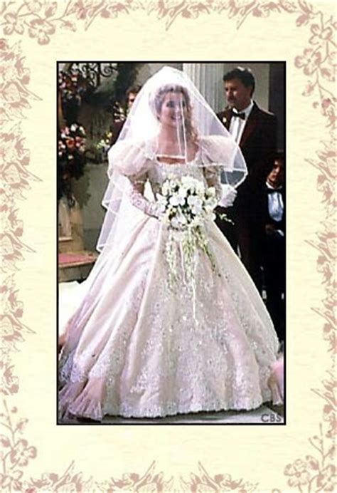 Y and R Nikki in her wedding dress to wed Victor   Tv and