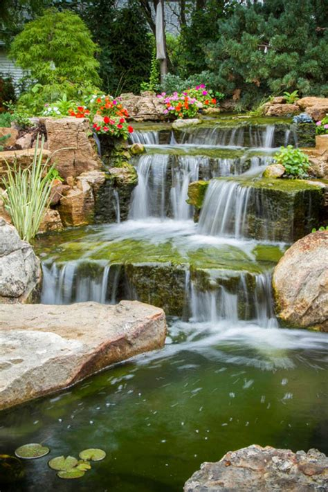 amazing suburban backyard transformed with water features