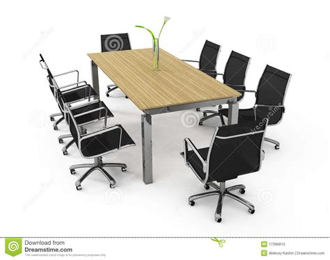 set of office furniture stock photo image 17396810