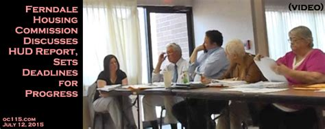 ferndale housing commission ferndale housing commission discusses hud report sets